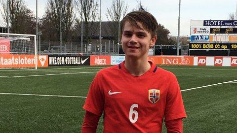 KAPTEIN: Thomas Rekdal var kaptein for G17-landslaget, da de slo Sverige 4-0 mandag.