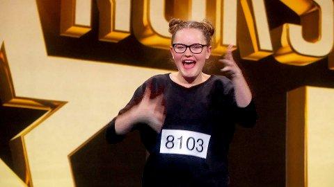 Vilde Winge tolket musikk på tegnspråk - og gikk helt til topps i «Norske talenter».