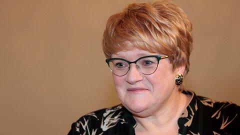 Venstre-leder Trine Skei Grande slår tilbake mot rykter. Lise Åserud (NTB scanpix)