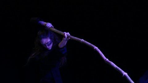 RAVN: Siste fremførelse under søndagens «Åpen Scene», var «Ravn» av Torgunn Produksjoner.