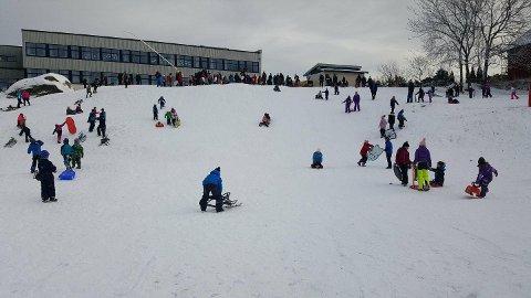 AKELYKKE: Tiltaket var svært populært blant barna på Gressvik.