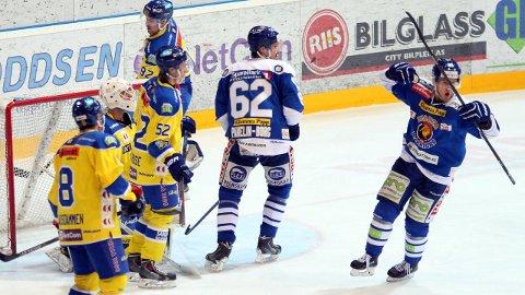 JUBEL: Eirik Børresen (til høyre) kunne under sin tid i Sparta feire endel scoringer. Foto: SA