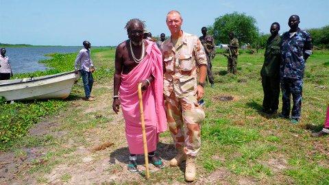 Takknemmelig konge: Ett av oppdragene i Sør-Sudan var å redde kong Kwongo Dak Padiet.