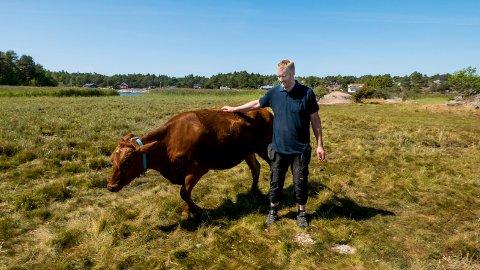 MANGE FORTVILER: Lars-Håkon Wennersberg er melkebonde og lokallagsleder i Bondelaget på Kråkerøy. Han forteller at det er mange som fortviler over årets avlinger, og sier andreslåtten er enda verre enn den første.
