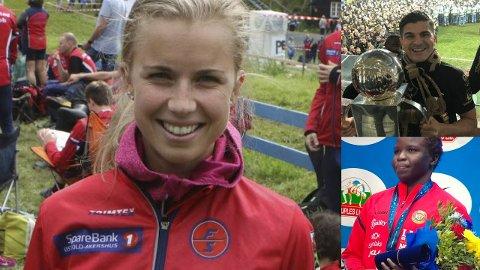 KANDIDATER: Kamilla Olaussen (til venstre), Tarik Elyounoussi og Grace Bullen er kandidater til å vinne idrettsprisen lørdag. Prisen deles ut av Installatøren Gruppen.