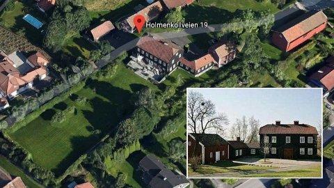 KREMEIENDOM: Holmenkollveien 19 er på hele 11 mål med et hovedhus på nærmere 800 kvadratmeter.