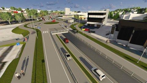 SNART FERDIG: Om ganske nøyaktig et halvt år, er det nye veianlegget mellom Simo og Ørebekk  klart til å tas i bruk dersom alt går etter planen.