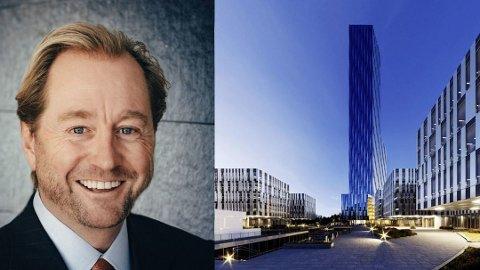 Spektakulært: Kjell Inge Røkkes forslag om å bygge en 225 meter høy skyskraper har skapt mange reaksjoner.