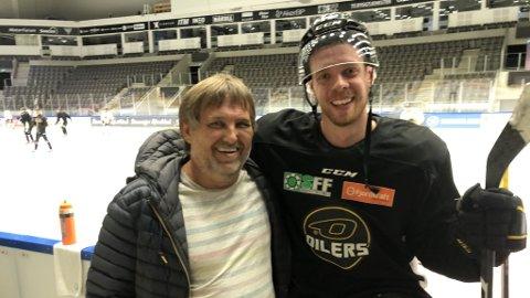 Tilbake: Rolf Borgersen var mandag tilbake i DNB Arena. Her møtte han blant andre Markus Søberg.
