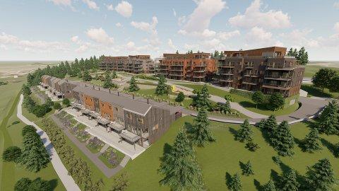 STORT SPENN: 95 leiligheter og 18 rekkehus er planen på Rolvsøy. – Det blir et stort spenn med alt fra hybler på 36 kvadratmeter til leiligheter på 120 kvadratmeter, sier Hans Magnus Lutnæs i Solid Prosjekt.