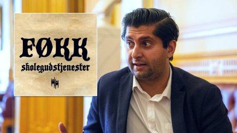 REAGERER: Den nye kampanjen «Føkk skolegudstjenester» vekker kraftige reaksjoner.  Foto: Nettavisen