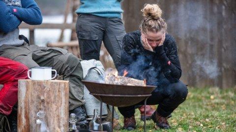 SKUFFET: Karianne Vilde Wølner legger ikke skjul på at det var kjipt å ryke så nærme finalen. Foto: Alex Iversen (TV 2)