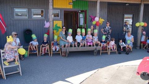 Feiret. Barna i Langøyåsen barnehage bidro til en fin 10-årsfest.
