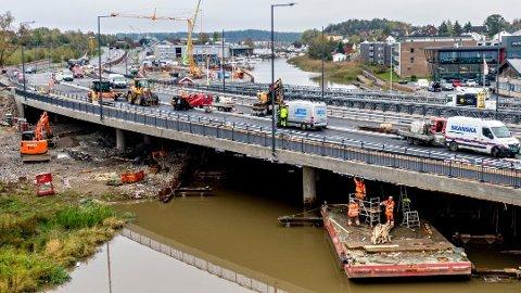 I dag to under rettsaken mellom Park & Anlegg og Statens vegvesen sto endringer v byggetegninger og broløsning samt grunnforholdene i sentrum