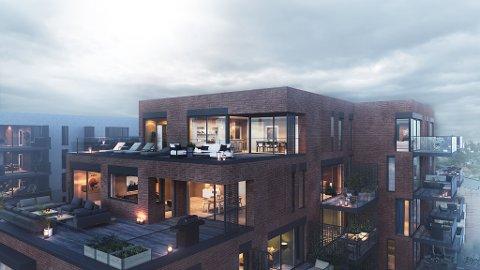 De fleste av leilighetene i planlagte Byhaven, vil få balkonger på mellom 10 og 12 kvadratmeter. De største boligene vil få langt mer boltreplass utendørs.