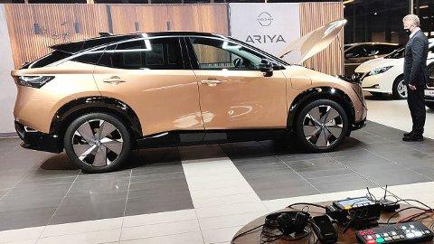 Her er Nissan Ariya i Norge. Nissans nye elbil er en SUV, i familiebilklassen.
