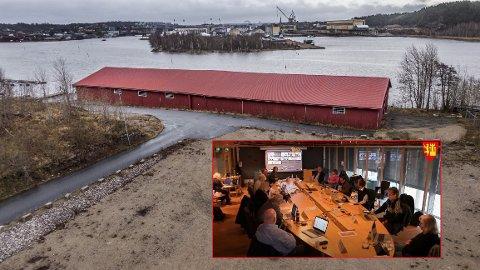 Planutvalget (innfelt) var helt enige da de tirsdag kom frem til et helt klart ja til Sleipner Motor-søknaden om å rive trelastlageret på Gressvik.