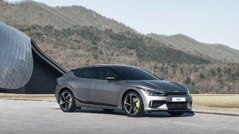 Her er den første av en rekke nye elbiler fra Kia. EV6 heter den, og Kia skal ha for å dra på med design!