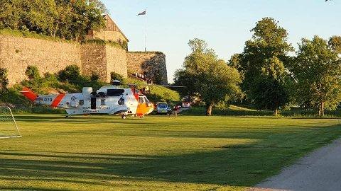 Flere på campingen ved Aktivitetsbyen Gamle Fredrikstad var vitner til ulykken som skjedde lørdag kveld.