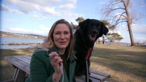 NY SERIE: Programleder Anne-Linn Kristiansen skal jakte på Østlandets kuleste hund til ny serie på TVØst. Her er hun med hunden Pollo.