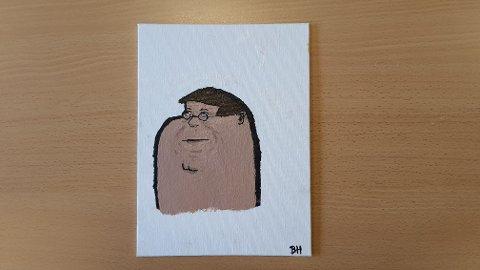 Maleri som skal auksjoneres