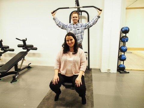 LEGGER NED:Frode Samuelsen og Lena Rishaug Samuelsen legger ned  Meieriet trening og velvære. Arkivfoto