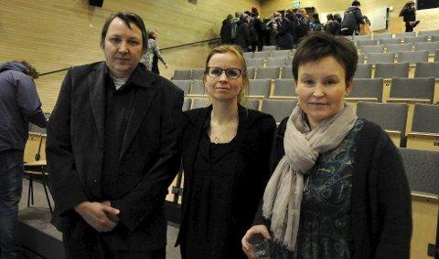Anne Kalstad Mikkelsen fra Árran, direktør Bodil Børset fra Hamsunsenteret og Oddmund Andersen fra Árran holdt alle tankevekkende og sterke foredrag på miniseminaret «Brudd» på Hamsunsenteret.