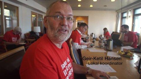 Geir-Ketil Hansen er godt fornøyd med innsamlingsresultatet.