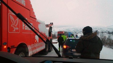 Fra Bjørnfjell mandag formiddag.