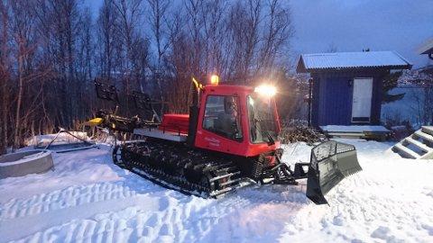 FULL FART: Ankenes skiklubb har klargjort løypene sine. Foto: Ankenes skiklubb.