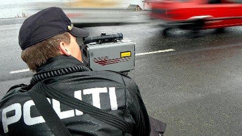 UP holder fartskontroll. Illustrasjonsfoto.