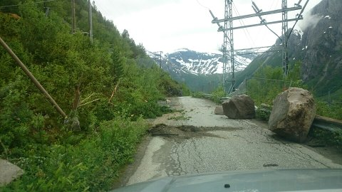 Det er fortsatt full stopp i anleggsarbeidene ved kraftstasjonen etter raset i Sør-Skjomen i juli.