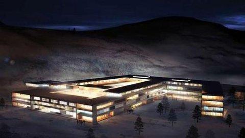 Illustrasjon av hvordan Narvik Sykehus kan se ut.
