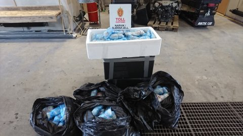 206 kg torskefilet beslaglagt hos et tysk reisefølge på Bjørnfjell  torsdag.