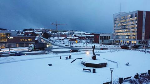 Narvik sentrum fredag tidlig ettermiddag.