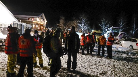 KORT VARSEL: Redningsaksjonen i indre Troms etter savnede utenlandske skigåere på topptur i skredfarlig terreng viser hvilket apparat som kan mobiliseres på kort varsel i nødetatene, i de frivillige organisasjonene og i Forsvaret.foto: Norsk Folkehjelp/Scanpix