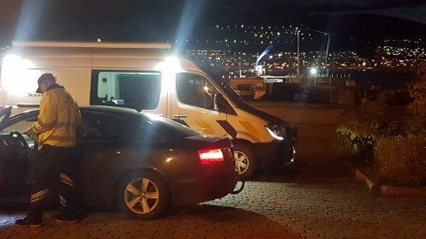 KONTROLL: Tirsdag kveld hadde Statens vegvesen kontroll i Narvik.