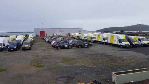 Bilpark: Hertz har måttet hanke inn ekstra biler i forbindelse med Arctic Race.