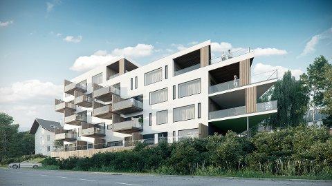 6 AV 14 LEILIGHETER SOLGT: Det nye boligprosjektet som skal bygges i Tore Hunds gate 34.