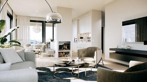 ULIKE STØRRELSER: De totalt 11 leilighetene kommer i ulike størrelser og prisklasser.
