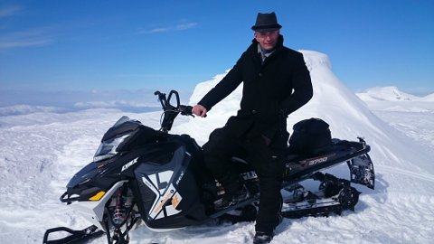 LEDER:  Atle Rishaug (47) er leder for Ofoten snøscooterforening.