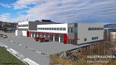 SLIK: Denne illustrasjonen viser hvordan den nye brannstasjonen blir seende ut.
