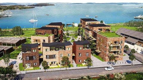 NYE GATER: Indre havnebyskal bygges på Bromsjordet.