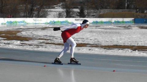TILBAKE: Olav Langeland, her fra master-VM i 2018. Han er nå Hortens eneste aktive skøyteløper.