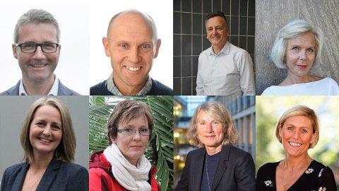 Fra venstre: Jan Sivert Jøsendal, Helge Galdal, Rune Terje Hjertås, Turid Kristoffersen, Trine Orten Groven, Hege Glenna, Anne Pedersen, Lisbeth Eek Svensson