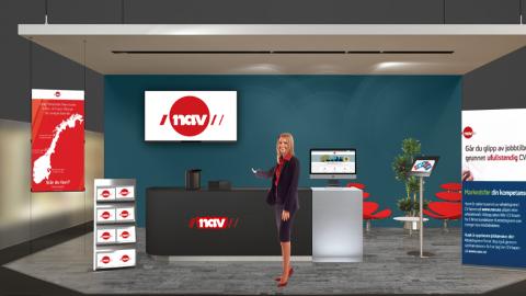 DIGITALT: På NAVs digitale jobbmesse kan du se ledige stillinger, registrere CV, chatte eller snakke med en veileder.