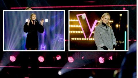 SYNGER: Vi får se både Maria Petra Brandal (t.v.) og Mie Omholt på fredagens utgave av The Voice.