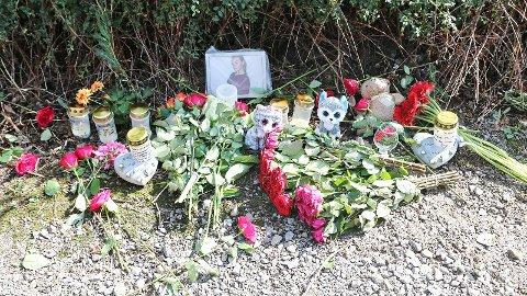 Det var på denne gangstien Sunniva Ødegård (13) ble funnet drept i juli i fjor.
