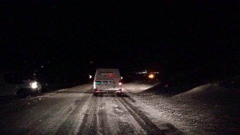 Flere biler kjørte av veien ved Melsvatnet natt til onsdag.