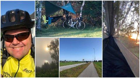 Roy Steffensen la ut på sykkeltur fra Ålgård til Flekkefjord. Han måtte bryte før han kom fram, men bildene er i hvert fall vakre.